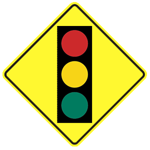Idaho traffic signal ahead road sign