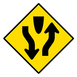 alabama divided highway ahead road sign