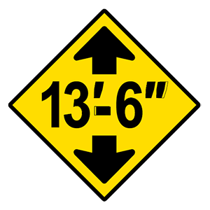 alabama low clearance road sign