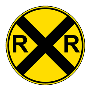 alabama railroad crossing(2) road sign