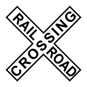 alabama railroad crossing road sign