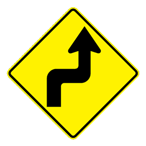 arizona shap turn right road sign