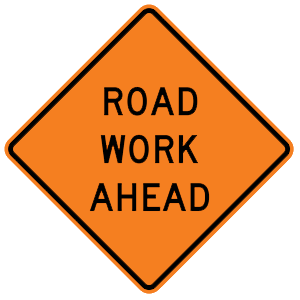 arkansas road work ahead road sign