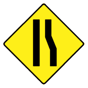 arkansas traffic lane ends road sign