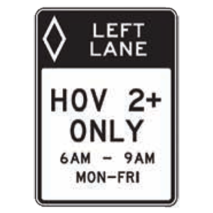 colorado hov lane road sign