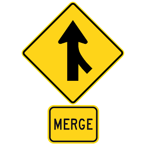 georgia merge road sign