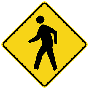 georgia pedestrian crossing road sign