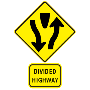 hawaii divided highway road sign