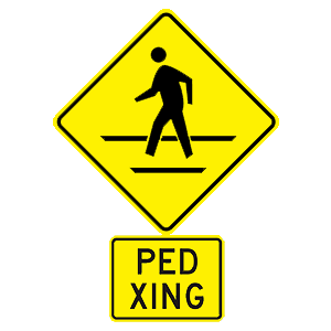 hawaii pedestrian crossing road sign
