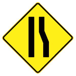 hawaii right lane ends road sign