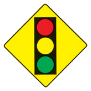 hawaii traffic signal ahead road sign