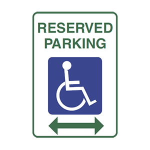 illinois parking for persons with disabilities road sign