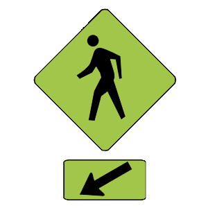 illinois pedestrian crosswalk road sign