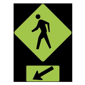 illinois pedestrian crosswalk road sign