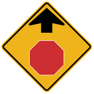 illinois stop ahead road sign