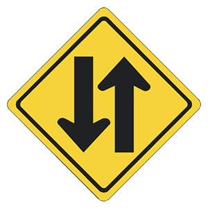 illinois two way roadway road sign