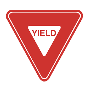 illinois yield road sign