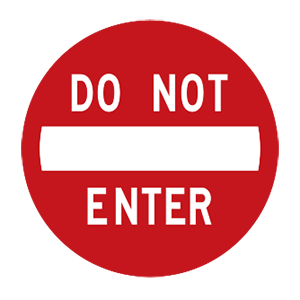 indiana do not enter road sign