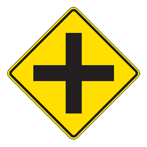indiana intersection ahead road sign