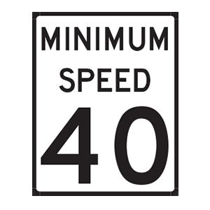 indiana minimum speed road sign