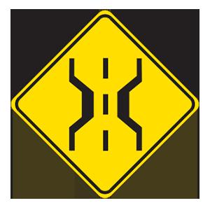 indiana narrow bridge road sign