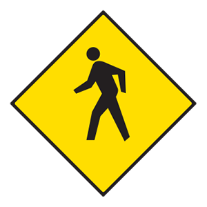indiana pedestrian crossing(2) road sign