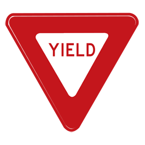 indiana yield road sign