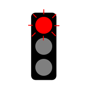 maryland flashing red light road sign