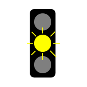 maryland flashing yellow light road sign