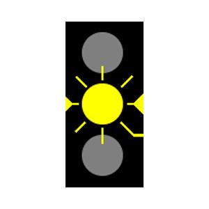 maryland flashing yellow light road sign