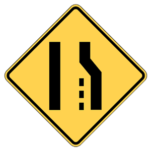 maryland lane ends road sign