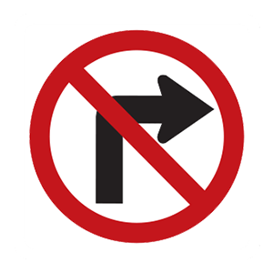 maryland no right turn
