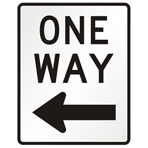 maryland one way road sign