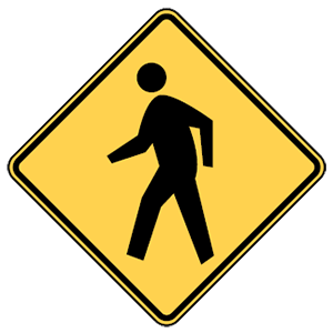 maryland pedestrian crossing road sign