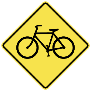 michigan bicycle crossing road sign