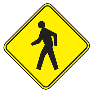 nebraska pedestrian crossing road sign