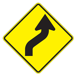 nebraska reverse curve road sign