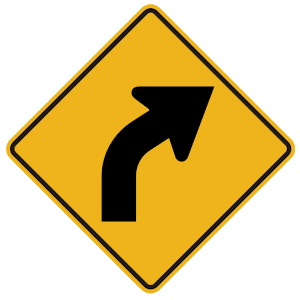 pennsylvania curve right road sign