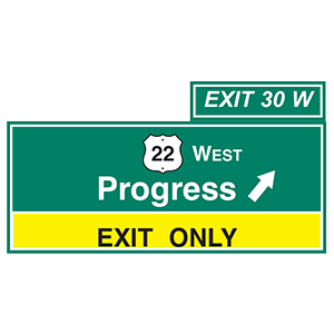 pennsylvania progress exit only