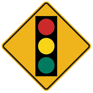 pennsylvania traffic signal ahead road sign