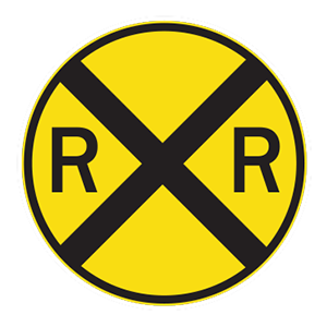 tennessee railroad crossing road sign