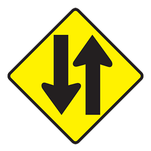 tennessee two way traffic road sign