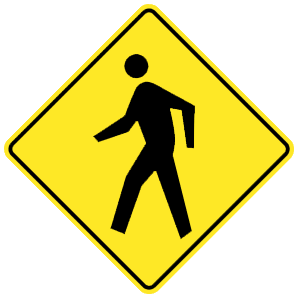 virginia pedestrian crossing(2) road sign