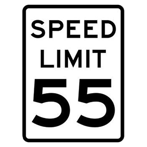 virginia speed limit 55 road sign
