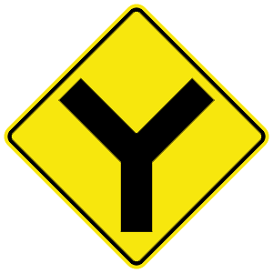 virginia y intersection road sign