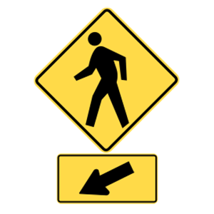 washington pedestrian crossing road sign