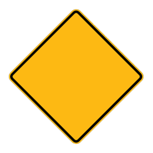 washington warning road sign