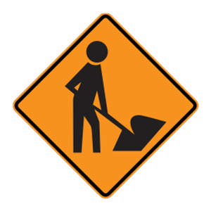 washington workers road sign