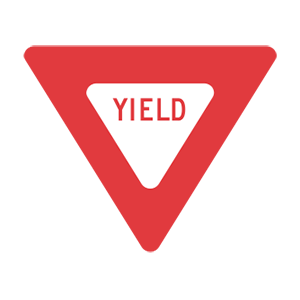 washington yield road sign