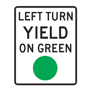 indiana left turn yield on green
